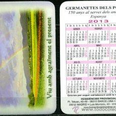 Coleccionismo Calendarios: CALENDARIOS BOLSILLO - GERMANETES DELS POBRES 2013. Lote 36567010