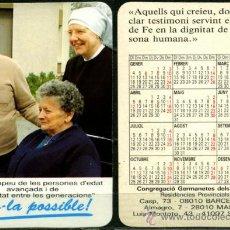 Coleccionismo Calendarios: CALENDARIOS DE BOLSILLO - GERMANETES DELS POBRES 1993. Lote 36577430