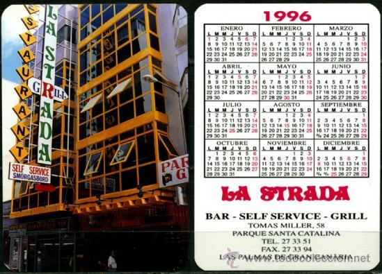 CALENDARIOS DE BOLSILLO - LA STRADA 1996 (Coleccionismo - Calendarios)