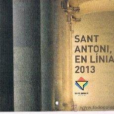 Coleccionismo Calendarios: CALENDARIO DE PARED, BARRIO S. ANTONI DE BARCELONA AÑO 2013. Lote 35701946