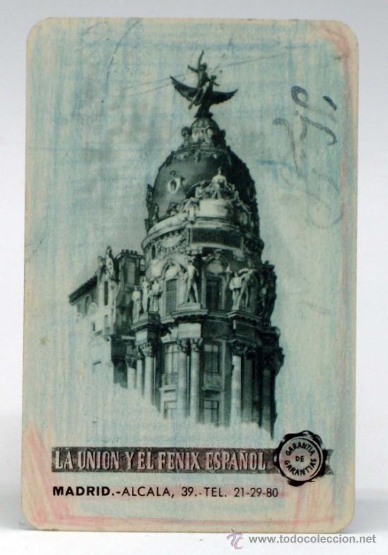 CALENDARIO DE BOLSILLO LA UNIÓN Y EL FENIX ESPAÑOL 1953 (Coleccionismo - Calendarios)
