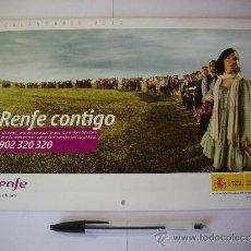 Coleccionismo Calendarios: CALENDARIO RENFE AÑO 2010 COMO NUEVO TREN FERROCARRIL. Lote 36879266