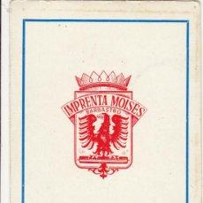 Coleccionismo Calendarios: CALENDARIO IMPRENTA MOISES 1966 BARBASTRO. Lote 37201726