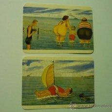 Coleccionismo Calendarios: LOTE CALENDARIOS EXTRANJEROS CHISTES 1986. Lote 37250049