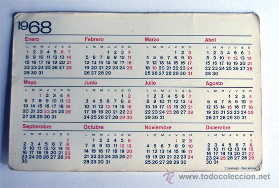 Calendario 1968.Calendario 1968 Joaquin Clavell Borras Casa Edison Barcelona