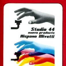 Coleccionismo Calendarios: CALENDARIO FOURNIER , PUBLICIDAD HISPANO OLIVETTI STUDIO 44 , 1960 , ORIGINAL , CAL8173. Lote 37385426