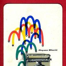 Coleccionismo Calendarios: CALENDARIO FOURNIER , PUBLICIDAD HISPANO OLIVETTI , PLUMA 22 , 1956 , ORIGINAL , CAL8172. Lote 37385574