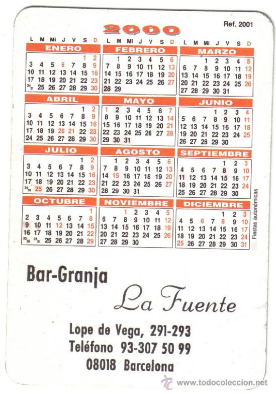 Calendario Del Barca.Calendario Fc Barcelona Barca 2000