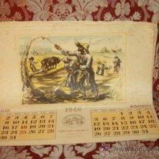 Coleccionismo Calendarios: CALENDARIO MUTUA GENERAL DE SEGUROS 1946/1947. ILUSTRADOS. Lote 37530458