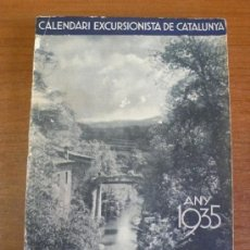 Coleccionismo Calendarios: CALENDARI CENTRE EXCURSIONISTA DE CATALUNYA. CLUB ALPÍ CATALÀ. ANY 1935.. Lote 37601074
