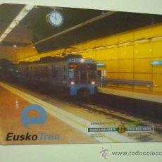 Coleccionismo Calendarios: CALENDARIO FERROCARRIL VASCO -EUSKO TREN 2006 . Lote 37703108