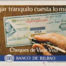 Coleccionismo Calendarios: CALENDARIO FOURNIER 1983 CHEQUES DE VIAJE BANCO BILBAO. Lote 37986082