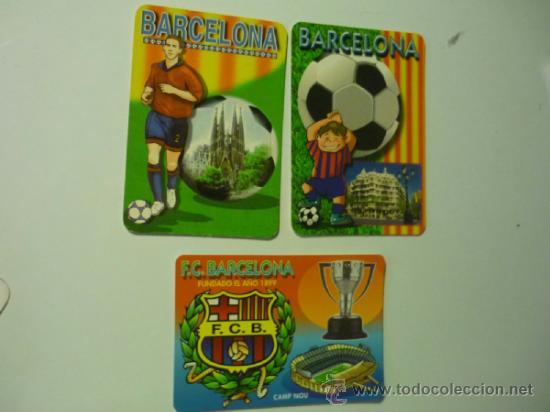 LOTE CALENDARIOS FC.BARCELONA -FUTBOL 2003-05-06 (Coleccionismo - Calendarios)