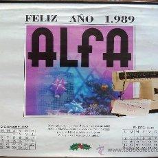 Coleccionismo Calendarios: CALENDARIO PARED ALFA 1989. MALAGA. PAISAJES.. Lote 38115039