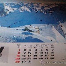Coleccionismo Calendarios: ALMANAQUE PARED CALENDARIO 1967 SUIZA PUBLICIDAD RELOJ RELOJES SANDOZ. Lote 38304447