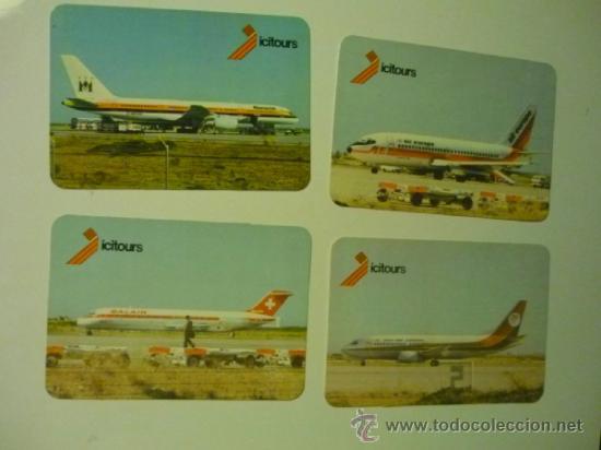 LOTE CALENDARIOS EXTRANJEROS 1986 -AVIONES COMERCIALES (Coleccionismo - Calendarios)