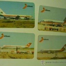 Coleccionismo Calendarios: LOTE CALENDARIOS EXTRANJEROS 1986 -AVIONES COMERCIALES. Lote 38349178