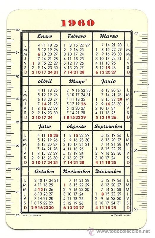 Calendario 1960.Calendario Fournier Vision Fatimista De Pio Xii Ano 1960
