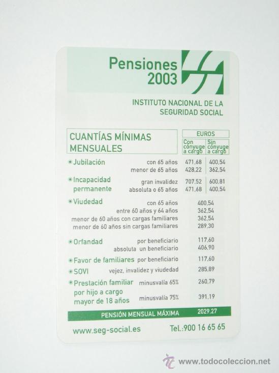 Calendario Social.Calendario Seguridad Social 2003