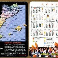 Coleccionismo Calendarios: CALENDARIOS BOLSILLO - CATALUNYA 2002. Lote 39810999