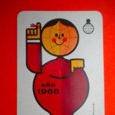 Coleccionismo Calendarios: CALENDARIO FOURNIER 1968. Lote 39053472