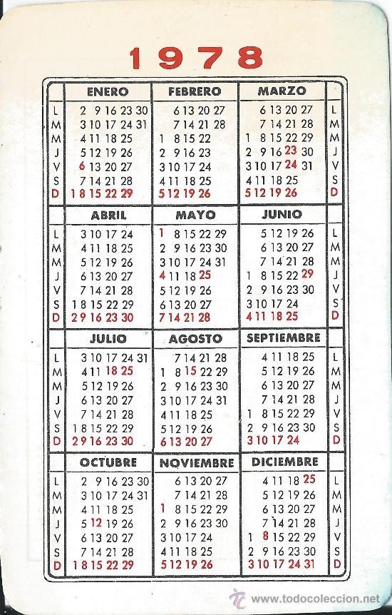 1978 Calendario.Calendario 1978 Hermandad De Donantes De Sangre De La Seguridad Social De Salamanca