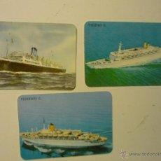 Coleccionismo Calendarios: LOTE CALENDARIOS EXTRANJEROS.-BARCOS 1989. Lote 39350835