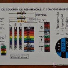 Coleccionismo Calendarios: CALENDARIO EDITORIAL AGB S.L. - AÑO 1995 - CÓDIGO DE COLORES DE RESISTENCIAS Y CONDENSADORES.. Lote 39354778