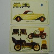 Coleccionismo Calendarios: LOTE CALENDARIOS EXTRANJEROS COCHES ANTIGUOS.1986. Lote 39552230