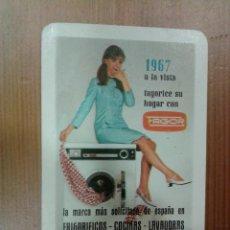 Coleccionismo Calendarios: CALENDARIO FOURNIER, PUBLICIDAD FAGOR , 1967. Lote 39577851