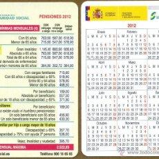Calendarios Bolsillo - SEGURIDAD SOCIAL 2012