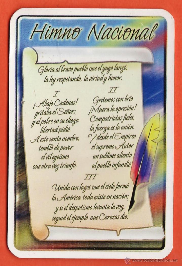 Calendario Bolsillo Himno Nacional Venezuel Comprar