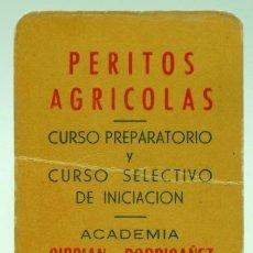 Coleccionismo Calendarios: CALENDARIO BOLSILLO 1961 PERITOS AGRÍCOLAS ACADEMIA CIBRIAN RODRIGÁÑEZ. Lote 293777908