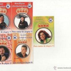 Coleccionismo Calendarios: LOTE 5 CALENDARIOS PUBLICITARIOS 2008. Lote 39786146