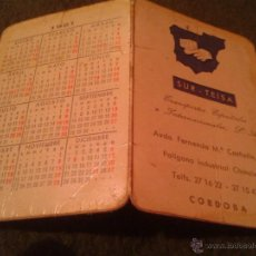 Coleccionismo Calendarios: ANTIGUO CALENDARIO DE BOLSILLO AÑO 1981 DIPTICO 2 HOJAS PUBLICIDAD SUR-TEISA TRANSPORTES DE CORDOBA. Lote 39880577
