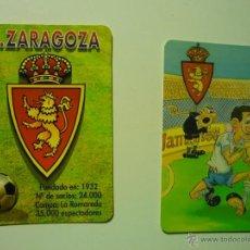 Coleccionismo Calendarios: LOTE CALENDARIOS FUTBOL ZARAGOZA-1998-2002. Lote 39975808