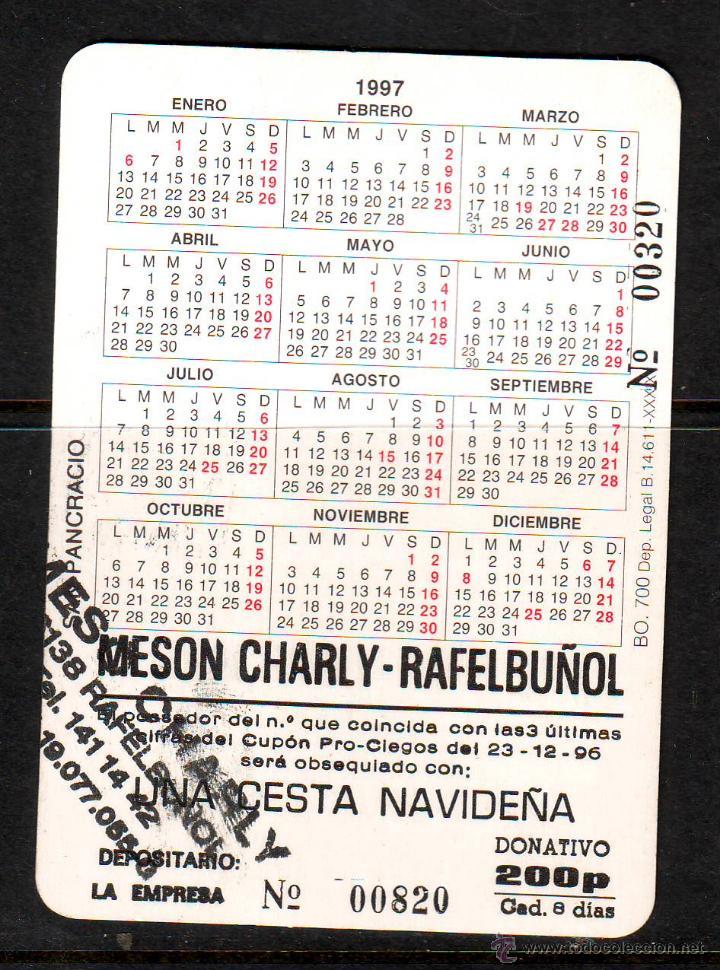 Calendario Religioso.Calendario Religioso De Bolsillo Ano 1997 San Pancracio