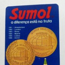 Coleccionismo Calendarios: CALENDARIO BEBIDA PORTUGAL 1987. Lote 40028725