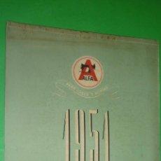 Coleccionismo Calendarios: MÁQUINAS DE COSER ALFA. AÑO 1951. CALENDARIO DE PARED 42 X 30 CTMS. A ESTRENAR. Lote 40267506