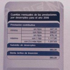 Coleccionismo Calendarios: CALENDARIO INEM 2006. Lote 40379336
