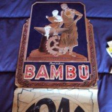 Coleccionismo Calendarios: (PUB-35)CALENDARIO GRAN FORMATO PAPEL DE FUMAR BAMBU,AÑO 1940. Lote 40435754