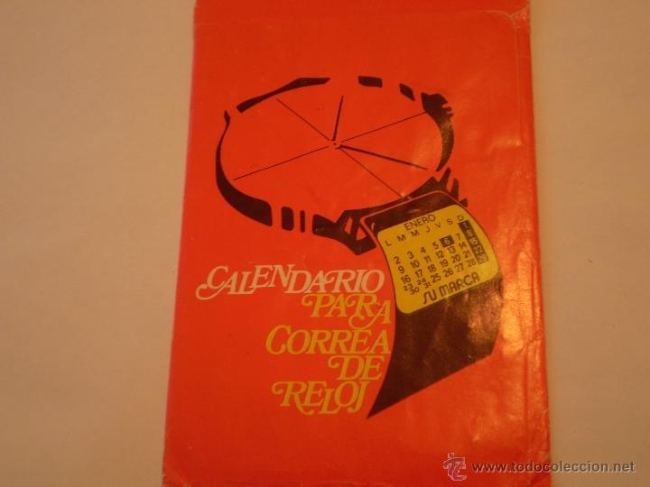 ANTIGUO CALENDARIO PARA CORREA DE RELOJ,SAFF ACONDICIONAMIENTO DE AIRE,BARCELONA 1979 (Coleccionismo - Calendarios)
