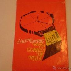 Coleccionismo Calendarios: ANTIGUO CALENDARIO PARA CORREA DE RELOJ,SAFF ACONDICIONAMIENTO DE AIRE,BARCELONA 1979. Lote 40438205