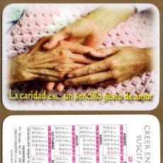 Coleccionismo Calendarios: CALENDARIOS BOLSILLO - HERMANITAS DE LOS POBRES 2014. Lote 52374727
