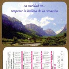 Coleccionismo Calendarios: CALENDARIOS BOLSILLO - HERMANITAS DE LOS POBRES 2014. Lote 52374716