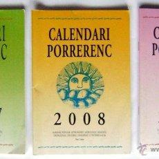 Coleccionismo Calendarios: 3 CALENDARI ALMANAC POPULAR. 2007-2008-2009 MALLORCA. Lote 40529454