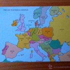 Collezionismo Calendari: CALENDARIO DE BOLSILLO PREFIJOS TELEFÓNICOS EUROPEOS 1992 - DIVERSOS AUTORES. Lote 37543535