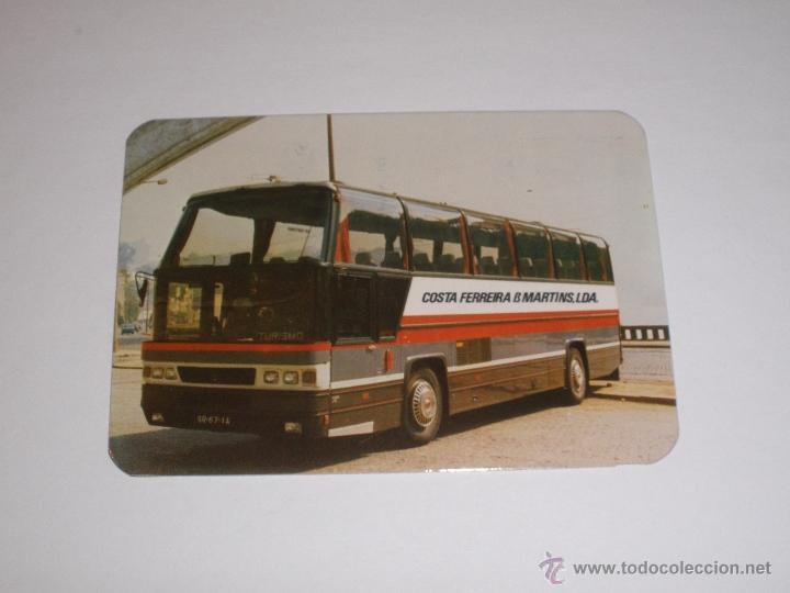 CALENDARIO PORTUGAL 1987 - AUTOBUS (Coleccionismo - Calendarios)