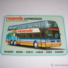 Coleccionismo Calendarios: CALENDARIO PORTUGAL 1987 - RESENDE EXPRESSOS. AUTOBUS. MONÇAO - BRAGA - PORTO - LISBOA - SINES . Lote 41294197