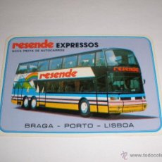 Coleccionismo Calendarios: CALENDARIO PORTUGAL 1987 - RESENDE EXPRESSOS. AUTOBUS. BRAGA - PORTO - LISBOA. Lote 41294182